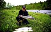 Jan Helmer på laksefiske