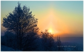 En tidlig morgen i Karasjok. -40°C div av sola.