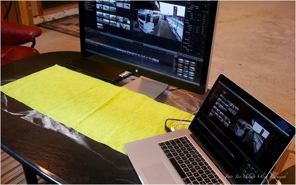 Redigering av luftfilmingen før det leveres til NRK