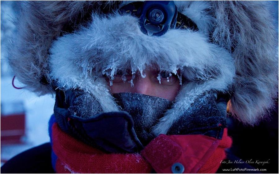 Friskt å filme og fotografere når det er minus 30°C grader.